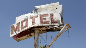 Motel Hell - a sign along route 395 in the Eastern Sierras of Ca